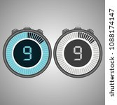 electronic digital stopwatch.... | Shutterstock .eps vector #1088174147