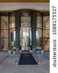 Small photo of Berlin, Germany - May 3, 2018: Entrance of Waldorf Astoria Hotel in Western Berlin, Germany.