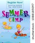children enjoying summer camp... | Shutterstock .eps vector #1088185097