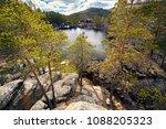 beautiful view of high lake...   Shutterstock . vector #1088205323