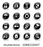 security vector icons   black... | Shutterstock .eps vector #1088210447