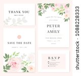 vector template set. wedding... | Shutterstock .eps vector #1088228333