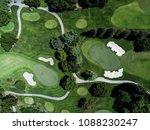 aerial photograph of golf... | Shutterstock . vector #1088230247