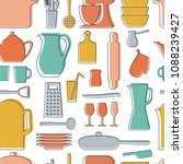 seamless vector pattern.... | Shutterstock .eps vector #1088239427