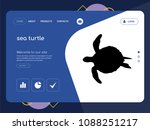quality one page sea turtle...