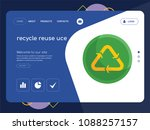 quality one page recycle reuse... | Shutterstock .eps vector #1088257157