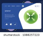 quality one page extend website ...   Shutterstock .eps vector #1088257223