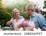 group of friends gathered... | Shutterstock . vector #1088264957