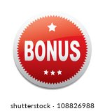 Label - Bonus. Vector - stock vector