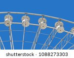 ferris wheel with white cabins... | Shutterstock . vector #1088273303