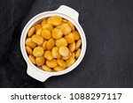 salted lupins in white bowl on... | Shutterstock . vector #1088297117