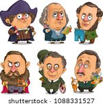 caricature. vector. a set of... | Shutterstock .eps vector #1088331527