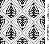 tribal geometric black and... | Shutterstock .eps vector #1088336723