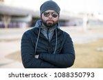 portrait of happy man outdoor.   Shutterstock . vector #1088350793