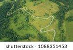 aerial landscape  road between... | Shutterstock . vector #1088351453