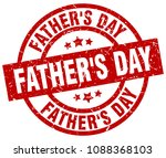 father's day round red grunge... | Shutterstock .eps vector #1088368103