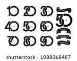 set of anniversary pictogram... | Shutterstock .eps vector #1088368487