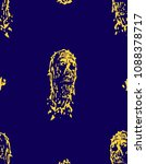 creepy dead head pattern. image ... | Shutterstock .eps vector #1088378717