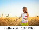 happy cute girl playing  in the ... | Shutterstock . vector #108841097