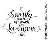 family where life begins and... | Shutterstock .eps vector #1088439557