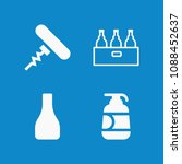 filled bottles icon set such as ... | Shutterstock .eps vector #1088452637