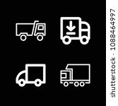 lorry related set of 4 icons...   Shutterstock .eps vector #1088464997