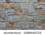 stone facade tiles. background... | Shutterstock . vector #1088469233