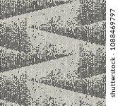 monochrome broken graphic motif ... | Shutterstock .eps vector #1088469797
