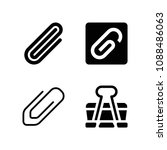 filled set of 4 clip icons such ... | Shutterstock .eps vector #1088486063