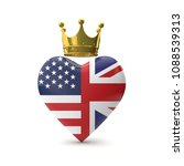 heart shape with american and...   Shutterstock . vector #1088539313
