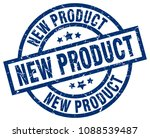 new product blue round grunge... | Shutterstock .eps vector #1088539487