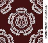 seamless pattern vintage vector ... | Shutterstock .eps vector #108856337