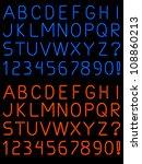 neon alphabet font   raster | Shutterstock . vector #108860213
