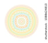 mandala pattern. vector adult... | Shutterstock .eps vector #1088624813
