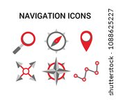 set of navigation icons.... | Shutterstock .eps vector #1088625227