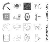 menu  armor with tattoo  darts  ... | Shutterstock .eps vector #1088627297