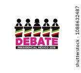 presidential debate. elections... | Shutterstock .eps vector #1088632487