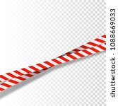 red and white stripes set.... | Shutterstock .eps vector #1088669033
