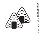 japanese onigiri icon. vector... | Shutterstock .eps vector #1088679833