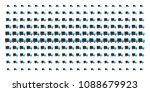 shipment van icon halftone... | Shutterstock .eps vector #1088679923