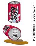 soda pop cans | Shutterstock .eps vector #108871787