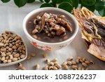 rice bean cuttlefish porridge   ... | Shutterstock . vector #1088726237