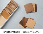 samples of material  wood   on... | Shutterstock . vector #1088747693