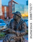 Small photo of Russia, Irkutsk 04,05,2018 Monument to surveyors-prospectors at the Lower Quay of the Angara