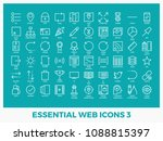 essential mixed web icons set... | Shutterstock .eps vector #1088815397