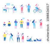 people background characters.... | Shutterstock .eps vector #1088826017