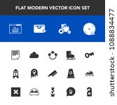 modern  simple vector icon set... | Shutterstock .eps vector #1088834477