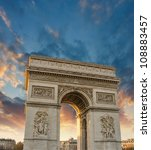 dramatic sky above arc de... | Shutterstock . vector #108883457