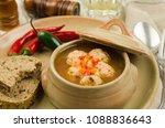 meatball soup. fresh homemade... | Shutterstock . vector #1088836643