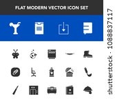 modern  simple vector icon set... | Shutterstock .eps vector #1088837117